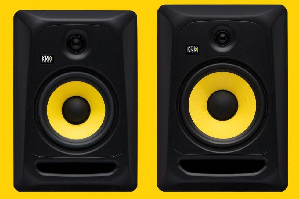 krk classic 7 and 8 studio monitors