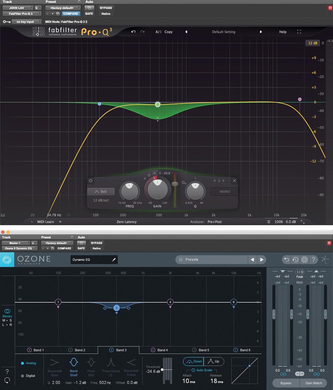 ozone audio software - dynamic eq